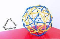 Learn how to make a geodesic dome (and sphere) out of straws and pipe cleaners.