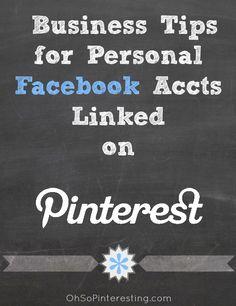 Pinterest Tip: Linking Facebook to Pinterest for Businesses. Internet Marketing Infographics courtesy  #PurposeAdvertising