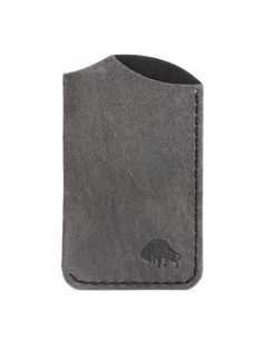 Bison Made - Charcoal Suede Front Wallet