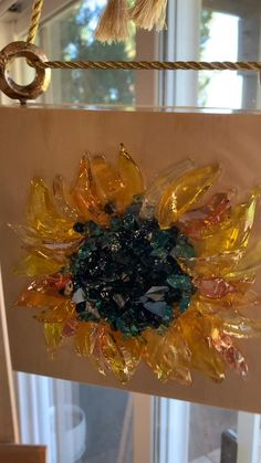 Resin Crafts, Diy Crafts, Broken Glass Art, Shell Frame, Crushed Glass, Giant Paper Flowers, Liquid Gold, Acrylic Art, Custom Art