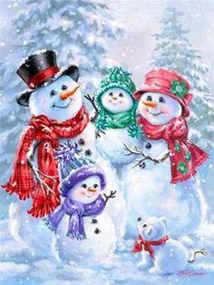 Snowmen Carolers Sandi Gore Evans Christmas