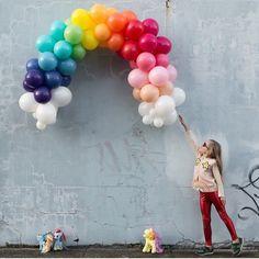 My Little Pony ~ balloon rainbow via Instagram (Inspo)