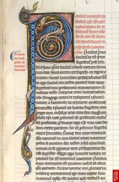Inhabited initial from a Commentary on the Pauline Epistles, made in France in the last quarter of the 13th century