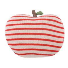 STRIPED APPLE PILLOW #oeufnyc #pillow #stripes