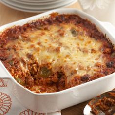 Undone Stuffed Pepper Casserole: Anything with poblano peppers is a winner at our house!