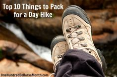 Top 10 Things to Pack for a Day Hike! Not just water! #Outdoors #Hiking