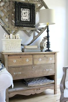 I took this ugly, disgusting dresser and transformed it into a beautiful DIY unfinished natural wood dresser