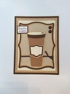 Thanks A Latte Card/ Thank You Card/ Coffee by ChrisiesCollection