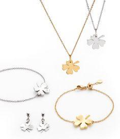 Mit einem vierblättrigen Kleeblatts tragen Sie das Glück immer bei sich. Spring, Gold Necklace, Jewelry, Stud Earring, Fashion Jewelry, Tag Watches, Armband, Gold Pendant Necklace, Jewlery