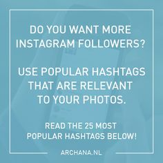 25 most popular Inst