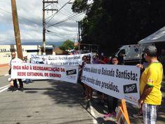 Grupo protesta contra fechamento de escolas em entrega da Ponte...