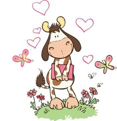 Too cute!!! Cow Tattoo, Cow Colour, Best Friend Drawings, Animal Crafts For Kids, Cute Cows, Cow Art, Pintura Country, Coloring Book Pages, Painting For Kids