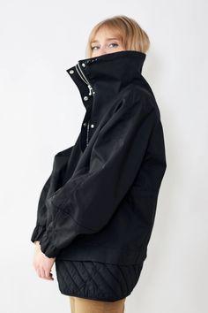 Ganni Double Cotton Jacket – grethen house Cotton Jacket, Raincoat, Model, Jackets, House, Fashion Design, Shopping, Black, Dresses
