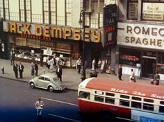 Jack Dempsey's (1619 Broadway) and Romeo's Spaghetti (1625 Broadway) in the Rat Race (1960) starring Tony Curtis Directed by Robert Mulligan. Cinematography by Robert Burks,