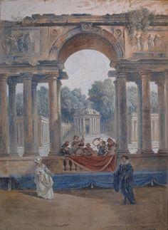 The garden pavilion with frescoes by johann wenzel bergl - Hauswand farbig gestalten ...