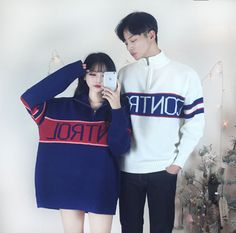 The Best Examples for Korean Street Fashion Matching Couple Outfits, Matching Couples, Korean Fashion Trends, Korean Street Fashion, Kpop Fashion Outfits, Ulzzang Fashion, Romantic Couples, Cute Couples, Korean Couple Photoshoot