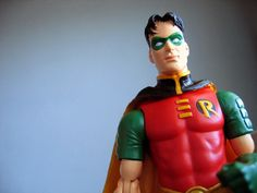 Robin Action Figure Photograph Print 8x10 by sunsetshutterbug, $25.00