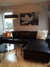 Pent brukt sofa med sjeselong til salgs