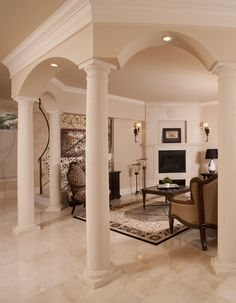 Kitchens With Columns luxury, kitchen, island, columns, archway | joel & edna: custom