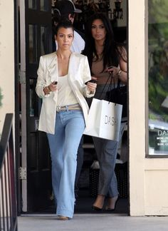 Loove this look!!  Whitney Eve blazer (I've never seen Whitney Ports' line) LNA tank (DASH)