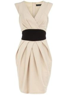 Stone obi style ponte dress - Dresses  - Clothing  - Dorothy Perkins