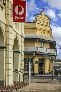 The Post Office - the oldest surviving masonry Post Office in QLD and the Post Office Hotel Maryborough Post Office Hotel, Vintage Hotels, Airlie Beach, Australian Art, Writing Advice, Australia Travel, Small Towns, Continents, Places To Go