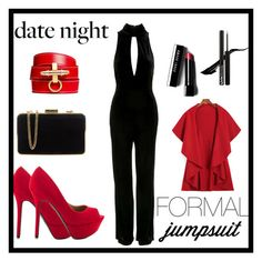 """""""Date Night: Formal Jumpsuit"""" by kellycassie ❤ liked on Polyvore featuring moda, Topshop, Qupid, MICHAEL Michael Kors, Bobbi Brown Cosmetics y Givenchy"""