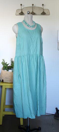 Aqua Color, Colour, Orange Jumpers, Striped Linen, Drop Waist, Tank Dress, Sage, Minimalist, Etsy Shop