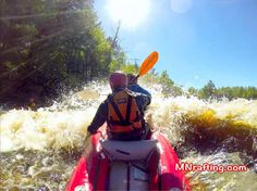 Kayaking down the Kettle River in Banning State Park. http://mnrafting.com #mnfun #mnrafting #mnadventure