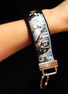 The Walking Dead Key Fob Keychain Wristlet on Etsy, $6.00