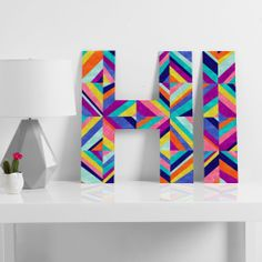 Jacqueline Maldonado Hybrid 1 Decorative Letters | DENY Designs Home Accessories coupon code SAY50 for 50% off!