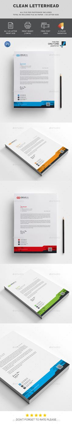Letterhead Template Letterhead template, Stationery printing and - paper design template