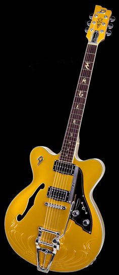 Duesenberg Guitars Fullerton Eagles Series All Gold Anniversary Guitar Pics, Music Guitar, Cool Guitar, Playing Guitar, Guitar Logo, Rare Guitars, Vintage Guitars, Archtop Guitar, Beautiful Guitars