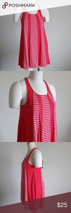 "SPLENDID Pink Summer Striped Tank Top Dress Brand New with Tags! Womens size 14. PINK PINK PINK - the color is pink and white, not sure why my camera makes it look red... PINK! 💕 Cotton and Stretchy!  Approx Measurements,  length 32"", across the chest 18"". ... Ask me anything! Splendid Dresses"