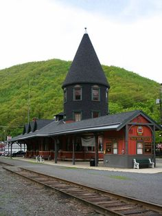 JIM THORPE'S,Train Station in Pennsylvania, USA Queen Anne Style station