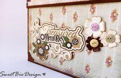 Sweet Bio design: Scatola Valigia porta Album - Suitcase box Album holder DIY