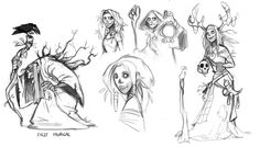 8 characters design on Robin hood themefor the book 2 of Master of anatomy2015
