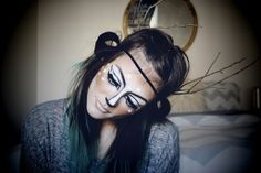 diy deer halloween makeup...would look awesome with one of my crochet deer hats