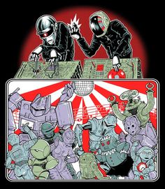 Daft Punk e outros andróides por Jeffro Kilpatrick para Planet Pulp Comic Books Art, Comic Art, Book Art, Batman Hush, Monthly Themes, Pop Culture Art, Daft Punk, Geek Humor, Fun Comics