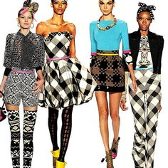 Mondo from Project Runway is great at mixing prints