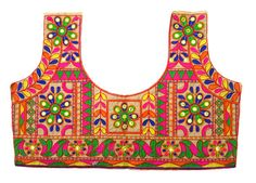 Colorful embroidery saree blouse embellished by JahanviFashionShop