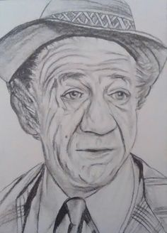 Sid james carry on pencil drawing