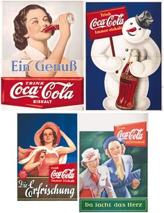 Coca-cola old, year 1938 in Germany