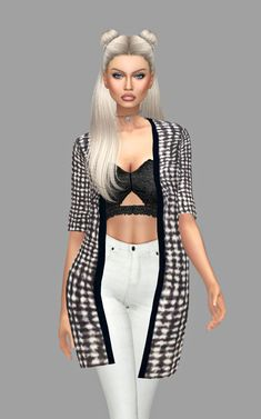 Kenzar Sims: Nicole Cardigans • Sims 4 Downloads