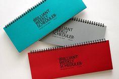 Weekly+Planner+Notebook+rosso+blu+grigio+/+accademico+di+DubuDumo