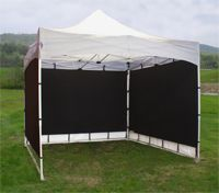 MeshPanel Softwalls on an EZ-Up Canopy