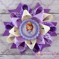 Sofia The First Loopy Flower Hair Bow by PixiePretties on Etsy, $6.00