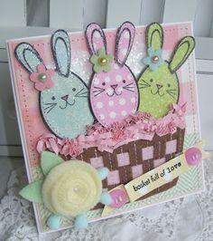 Egg Bunnies in a Basket Card