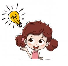 answer answering business bulb cartoon child concept drawing doubt girl idea illustration illuminate inspiration invention lamp lightbulb idea question problem resolution solution school solve solution vector Art Drawings For Kids, Cartoon Drawings, Art For Kids, Cartoon Clip, Cartoon Kids, Cute Wallpaper Backgrounds, Cute Wallpapers, Good Character Traits, Binder Cover Templates