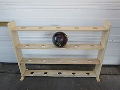 Bowling ball rack for up to 20 balls…